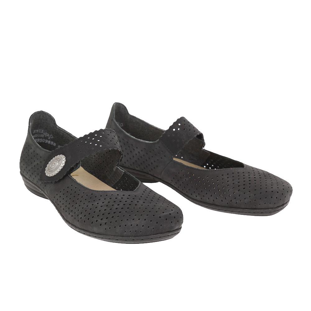 Dámské boty Rieker 53985-00 Černá Kůže