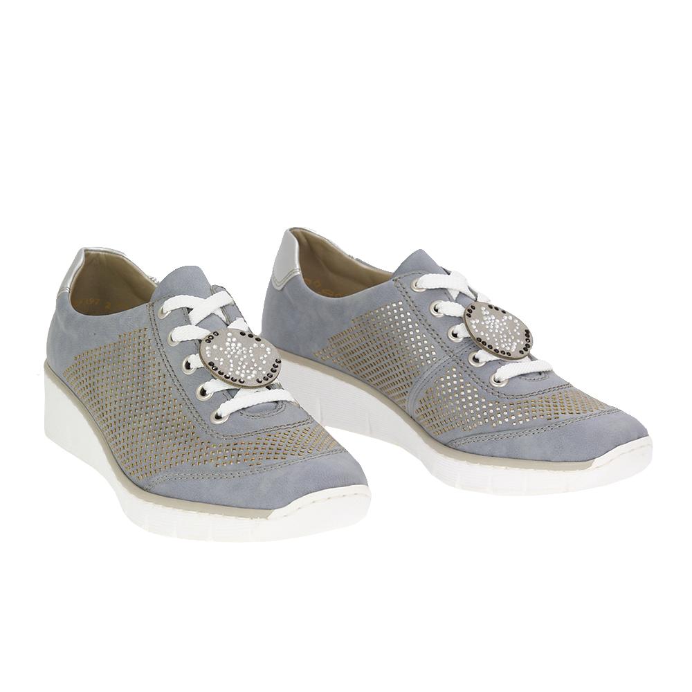 Dámské boty Rieker 537P2-12 Modrá kůže/syntetika