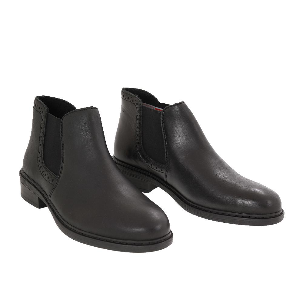 Dámské boty Rieker 77584-02 Černá Kůže