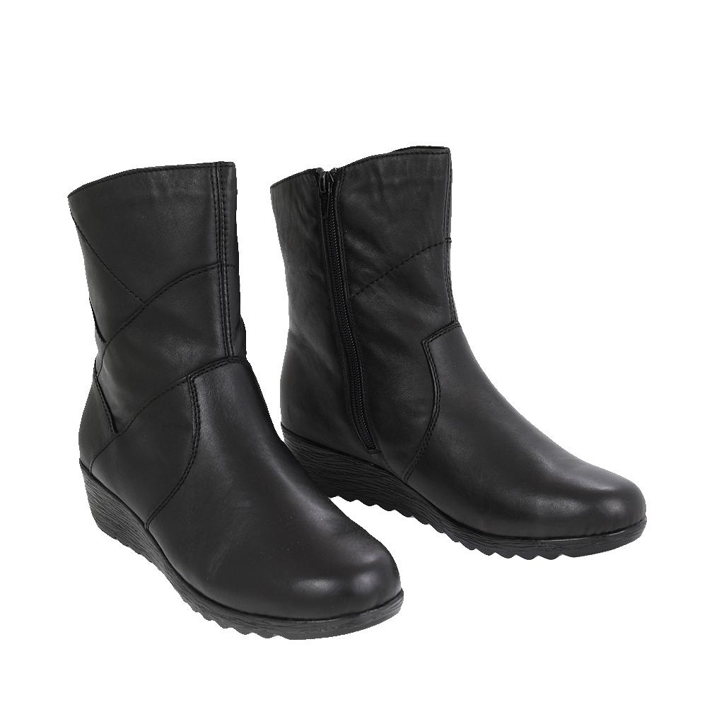 Dámské boty Rieker X2484-00 Černá Kůže