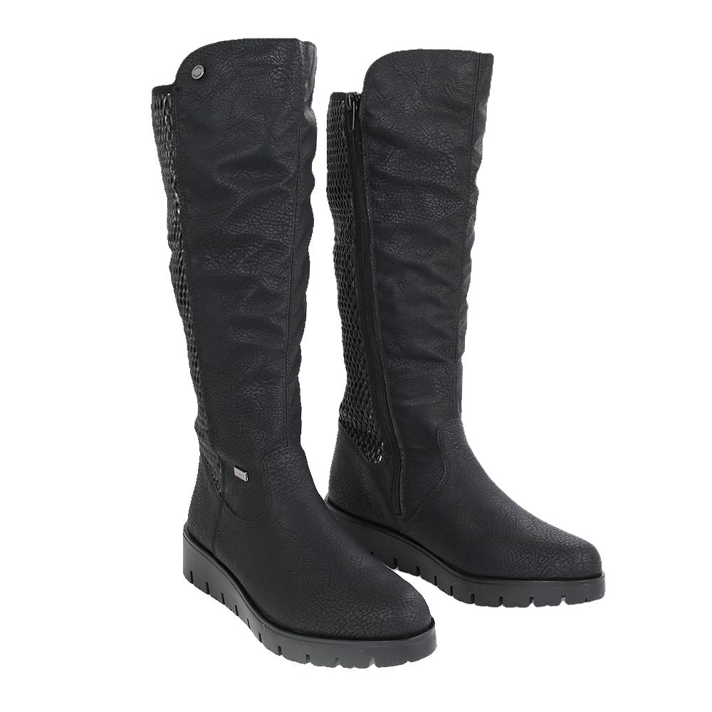 Dámské boty Rieker X2390-00 Černá Kůže