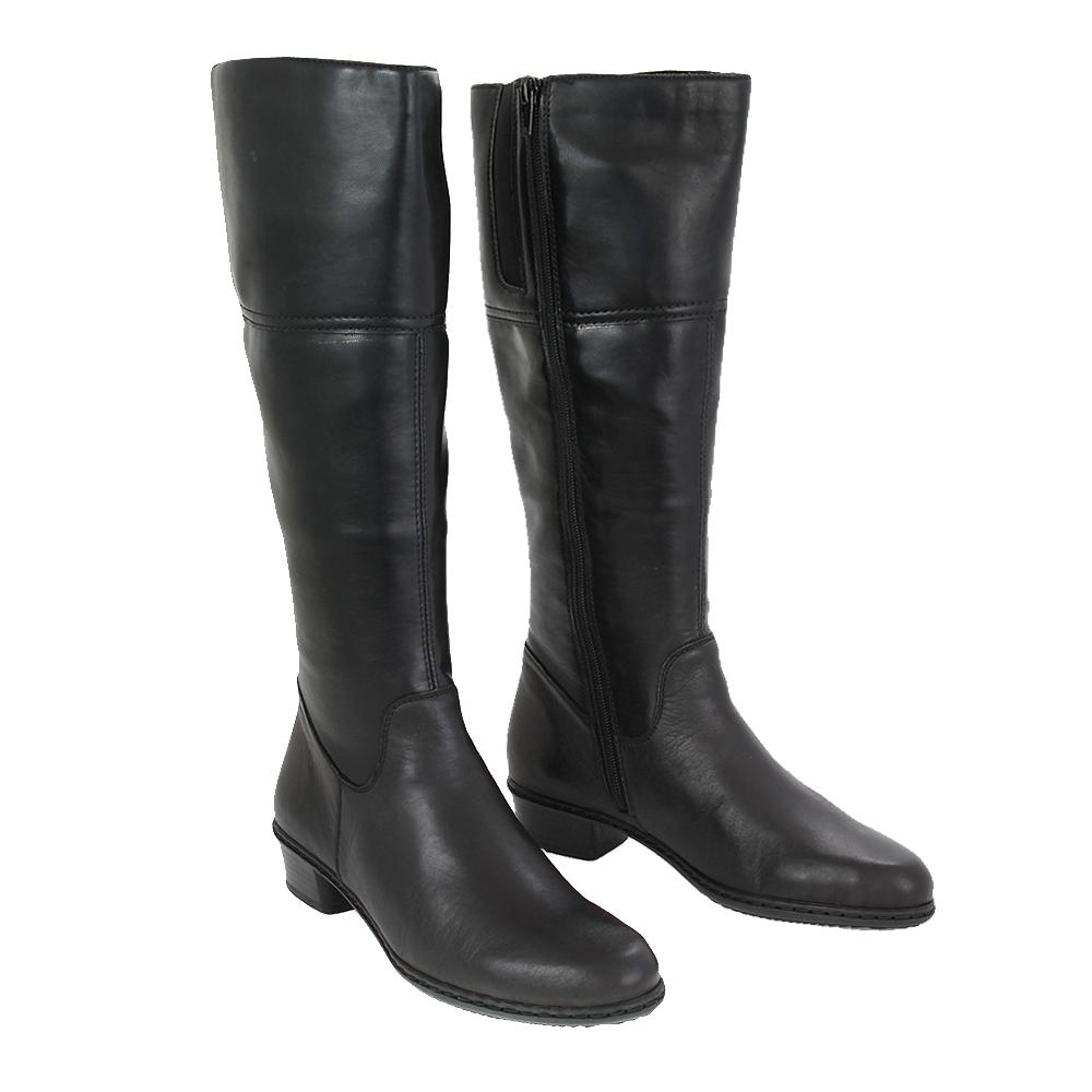 Dámské boty Rieker Y0748-00 Černá kůže/syntetika