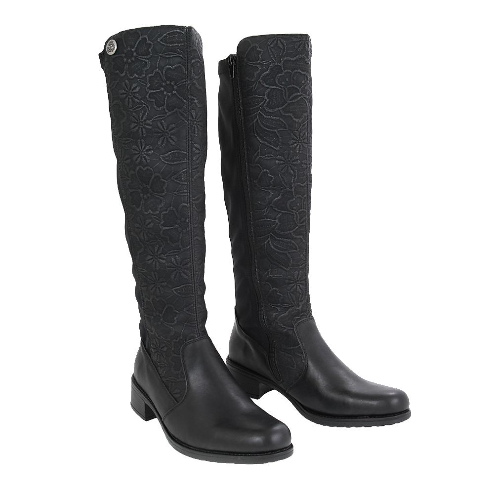 Dámské boty Rieker Z7391-01 Černá Kůže
