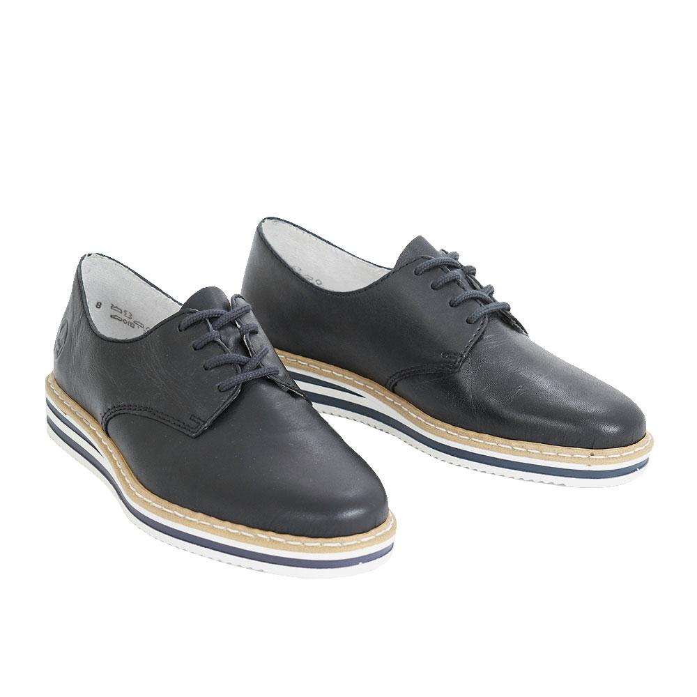 Dámské boty Rieker N0210-14 Modrá kůže/syntetika