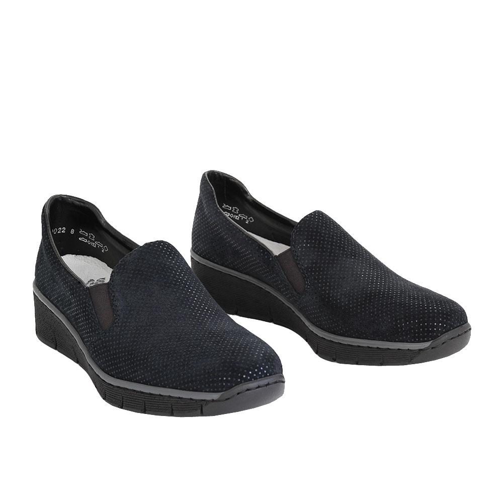 Dámské boty Rieker 53766-18 Navy kůže/syntetika