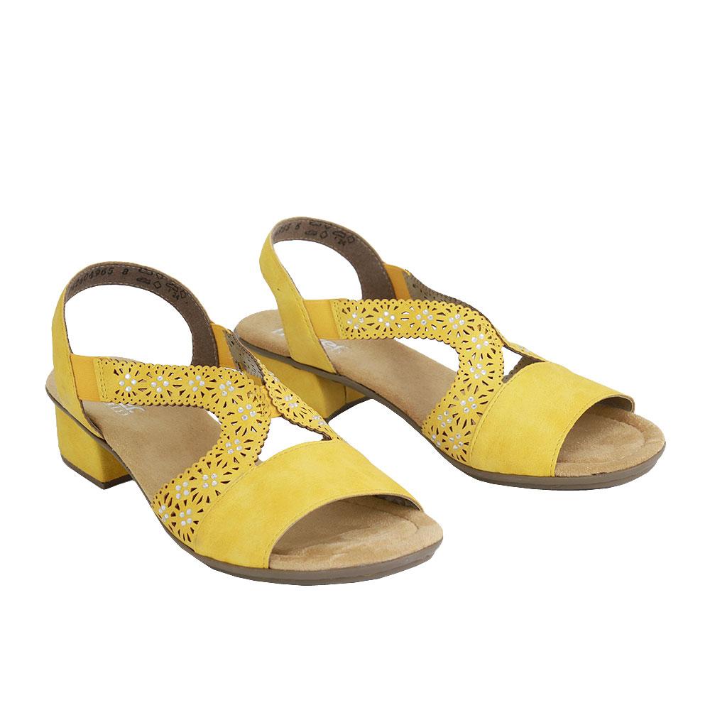 Dámské boty Rieker V6216-68 žlutá eko-kůže