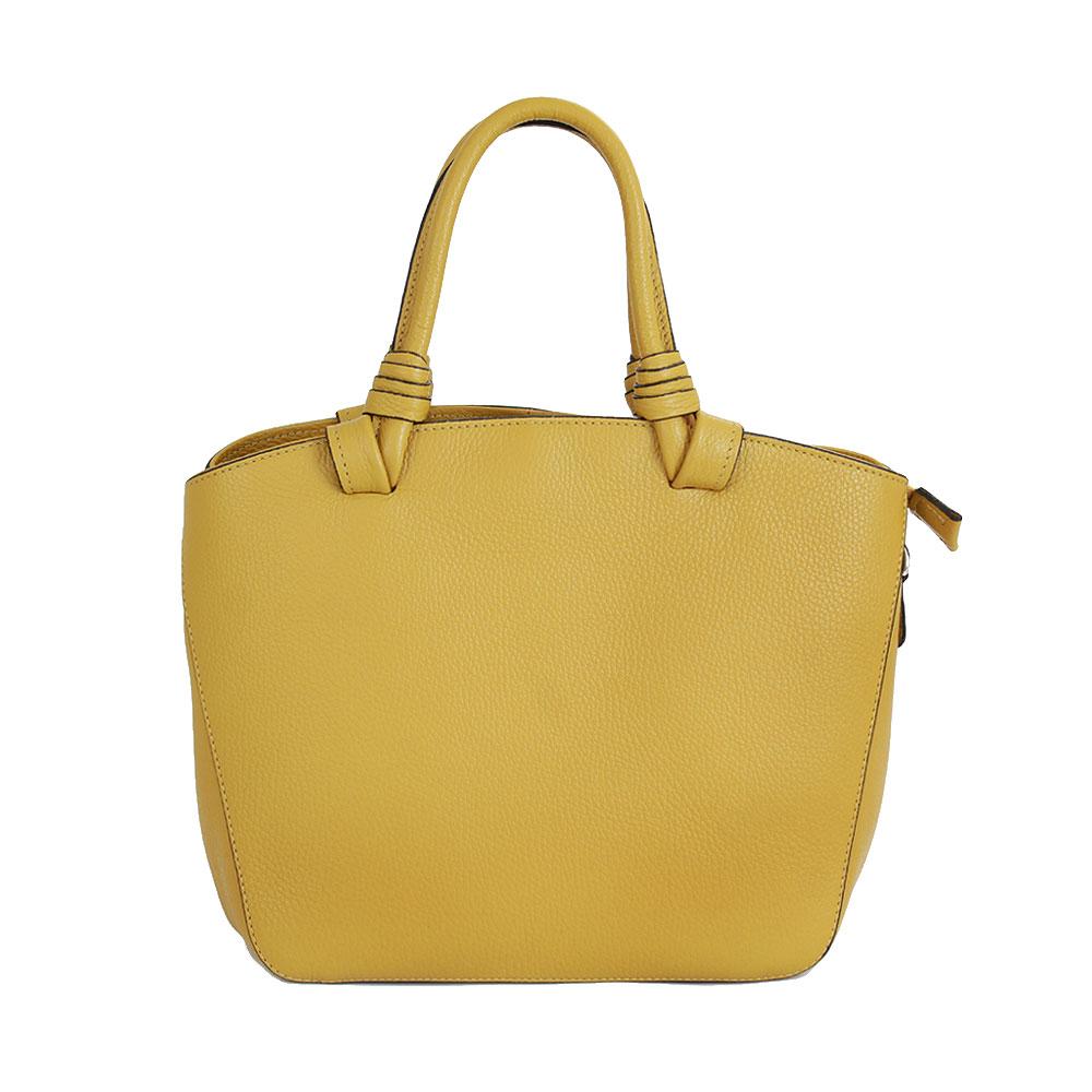 Italská kabelka Crosseta Bambiliana žlutá Kůže
