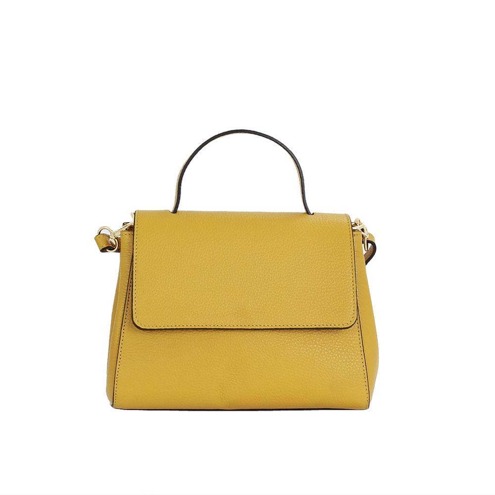 Italská kabelka Cynzia Picolla žlutá Kůže