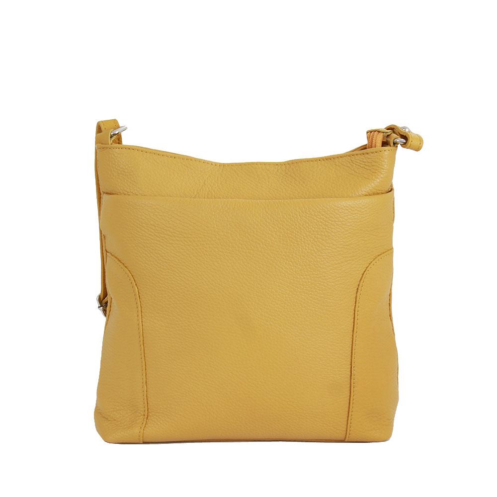 Italská kabelka Donya Picolla žlutá Kůže