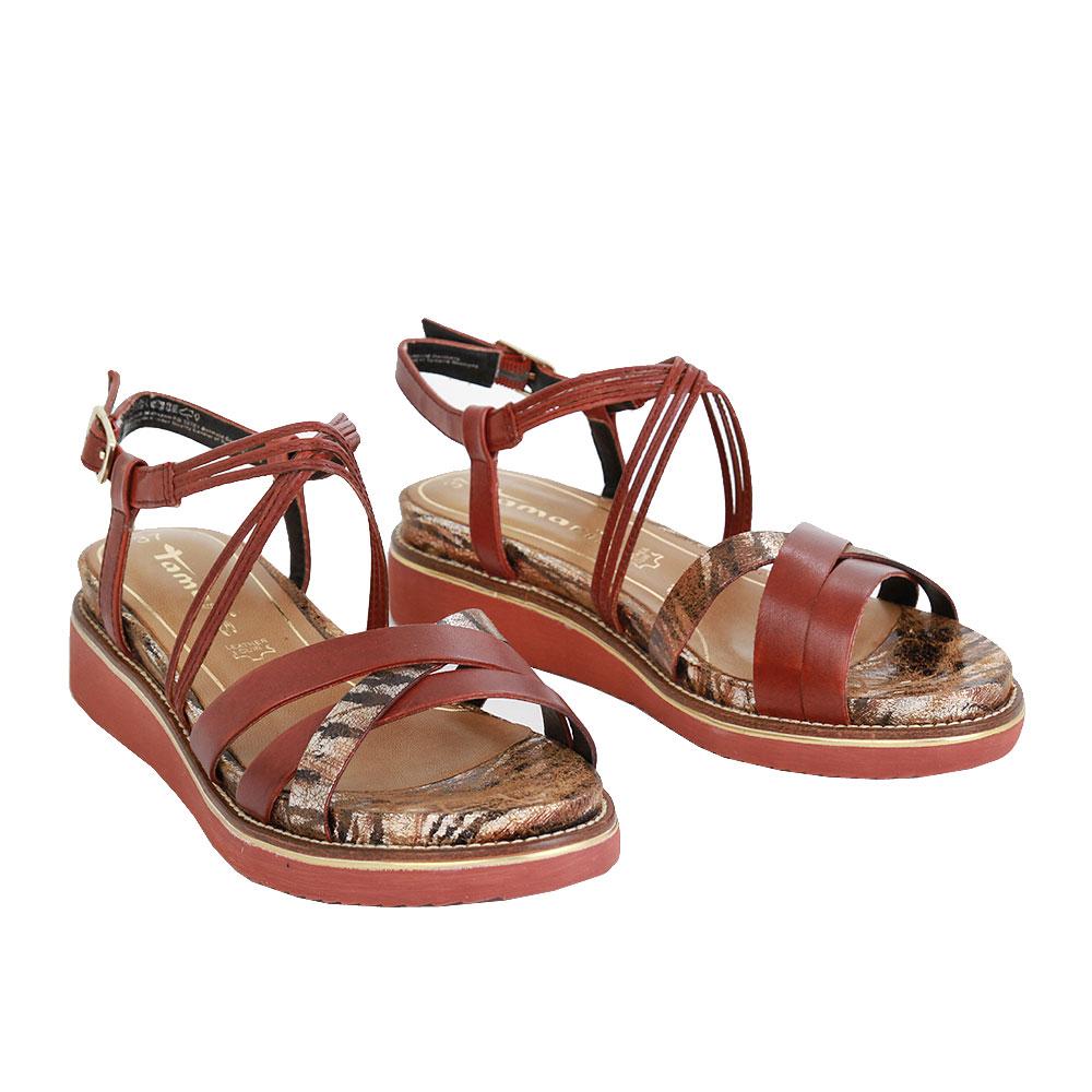 Dámské boty Tamaris 1-28207-24 granata kůže/syntetika
