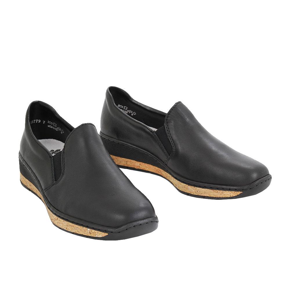 Dámské boty Rieker 5976600 Černá kůže/syntetika