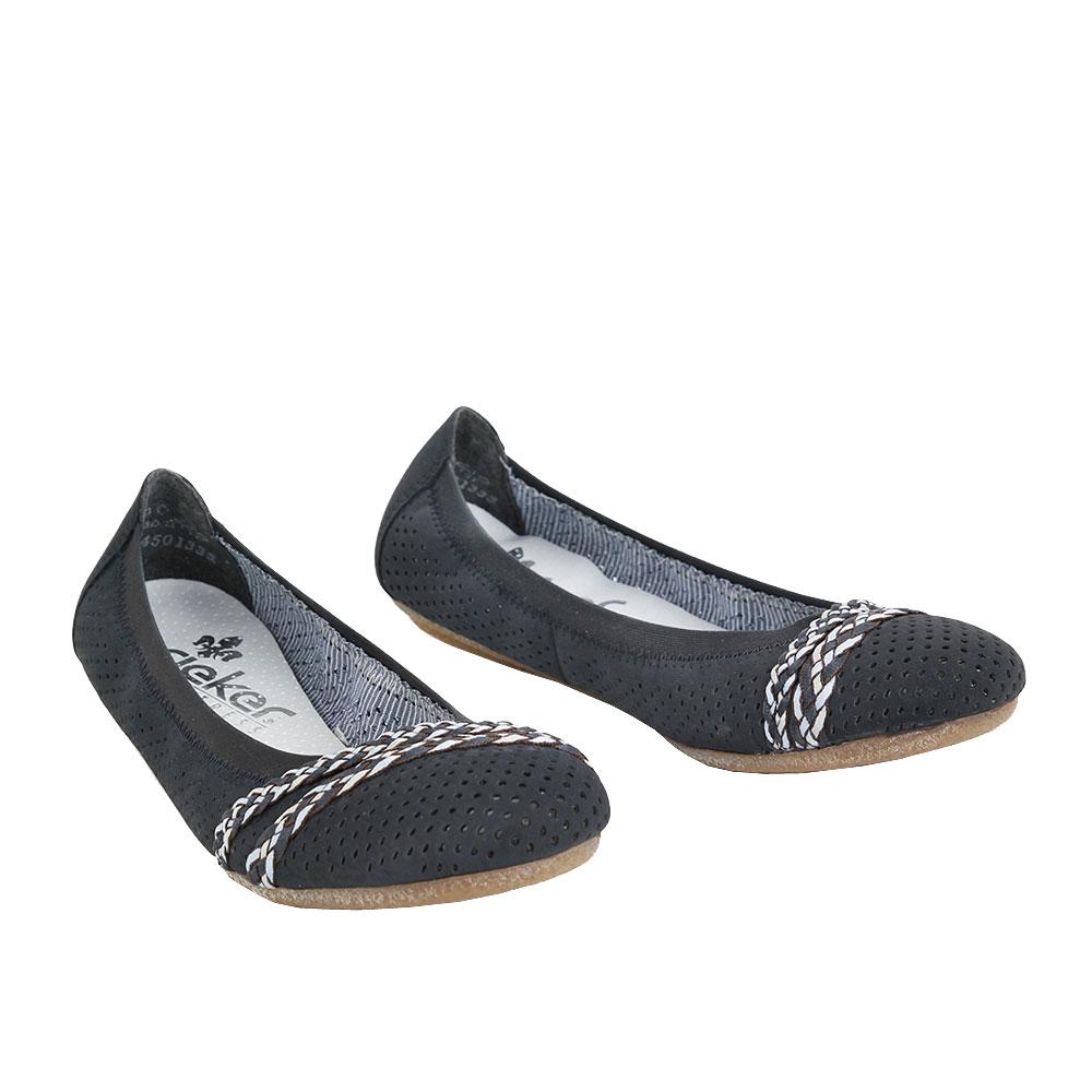 Dámské boty Rieker 41469-14 Modrá kůže/syntetika