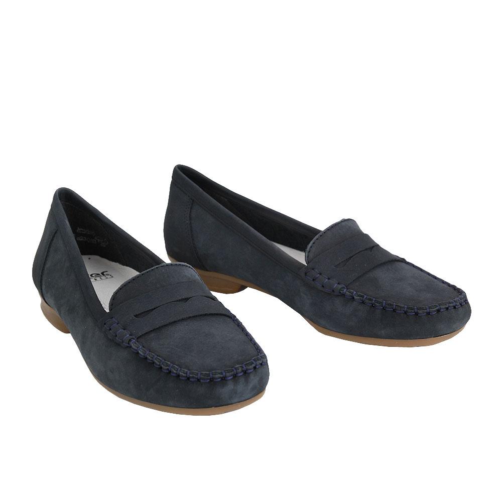 Dámské boty Rieker 40054-14 Modrá kůže/syntetika