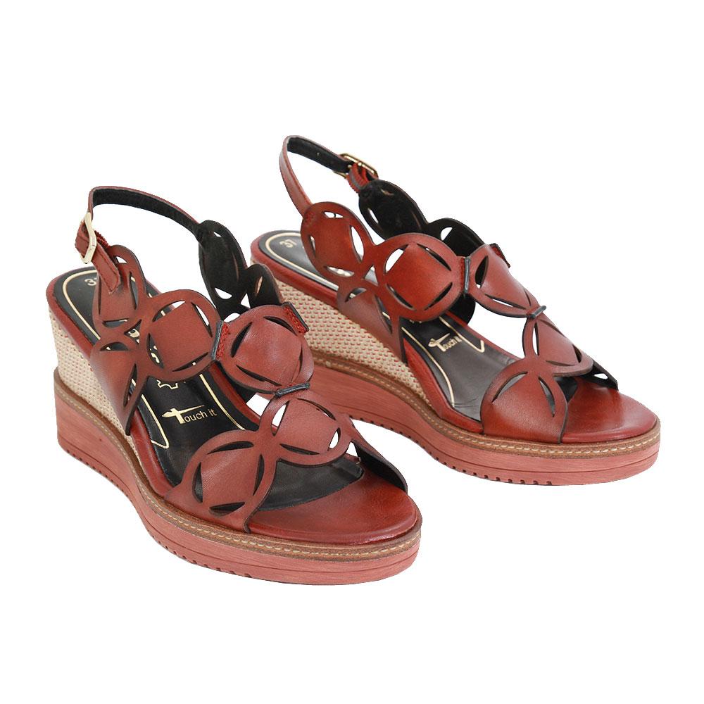 Dámské boty Tamaris 1-1-28312-24 granata kůže/syntetika