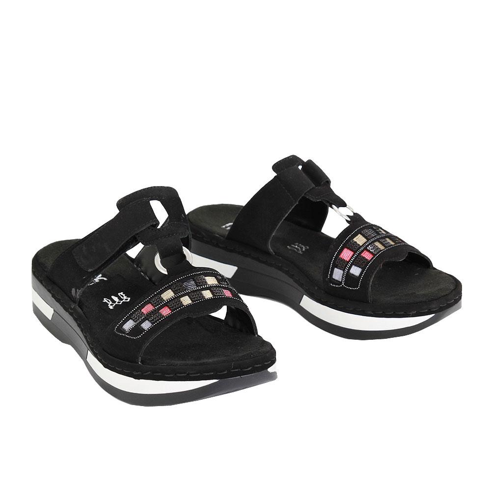 Dámské boty Rieker V593200 Černá eko-kůže