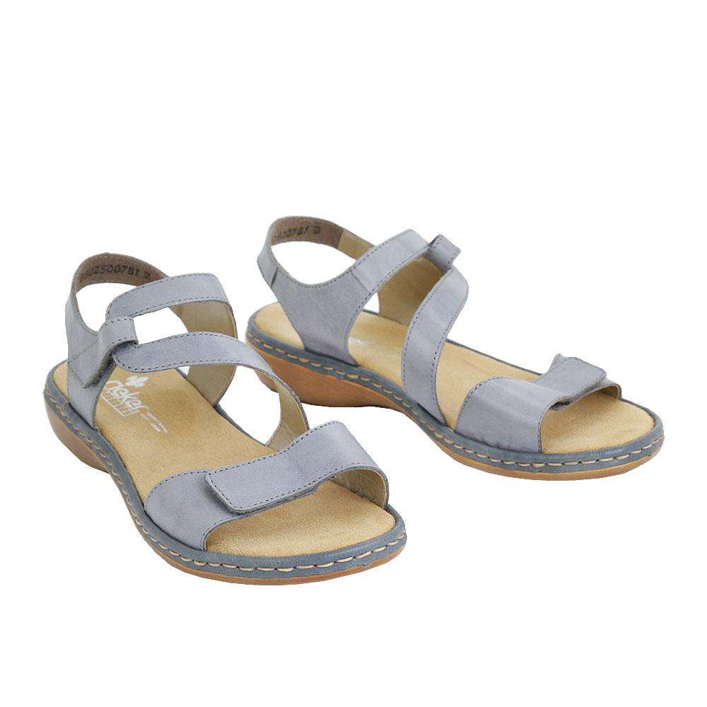 Dámské boty Rieker 659C7-12 Modrá kůže/syntetika