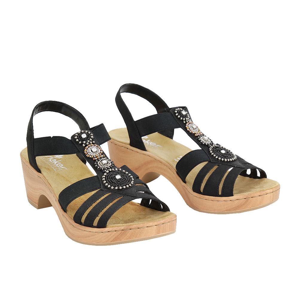 Dámské boty Rieker V28S8-00 Černá kůže/syntetika