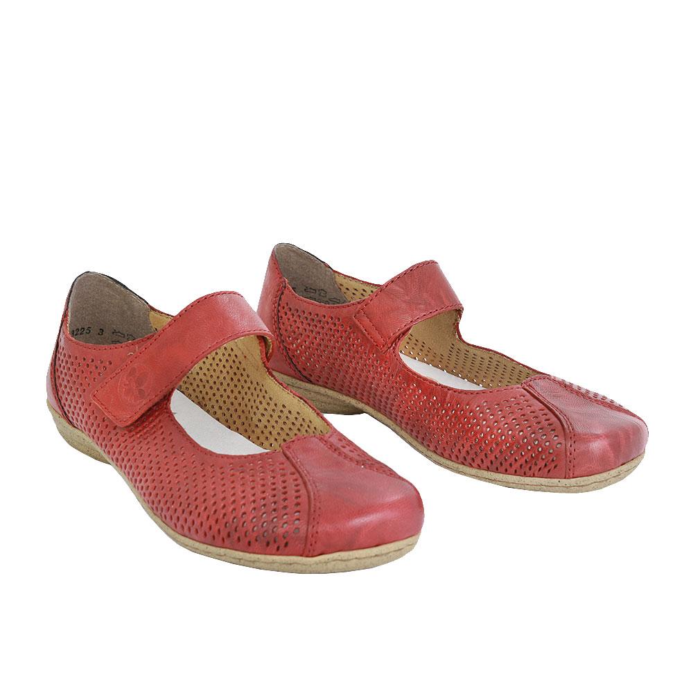 Dámské boty Rieker 53977-35 Červená kůže/syntetika