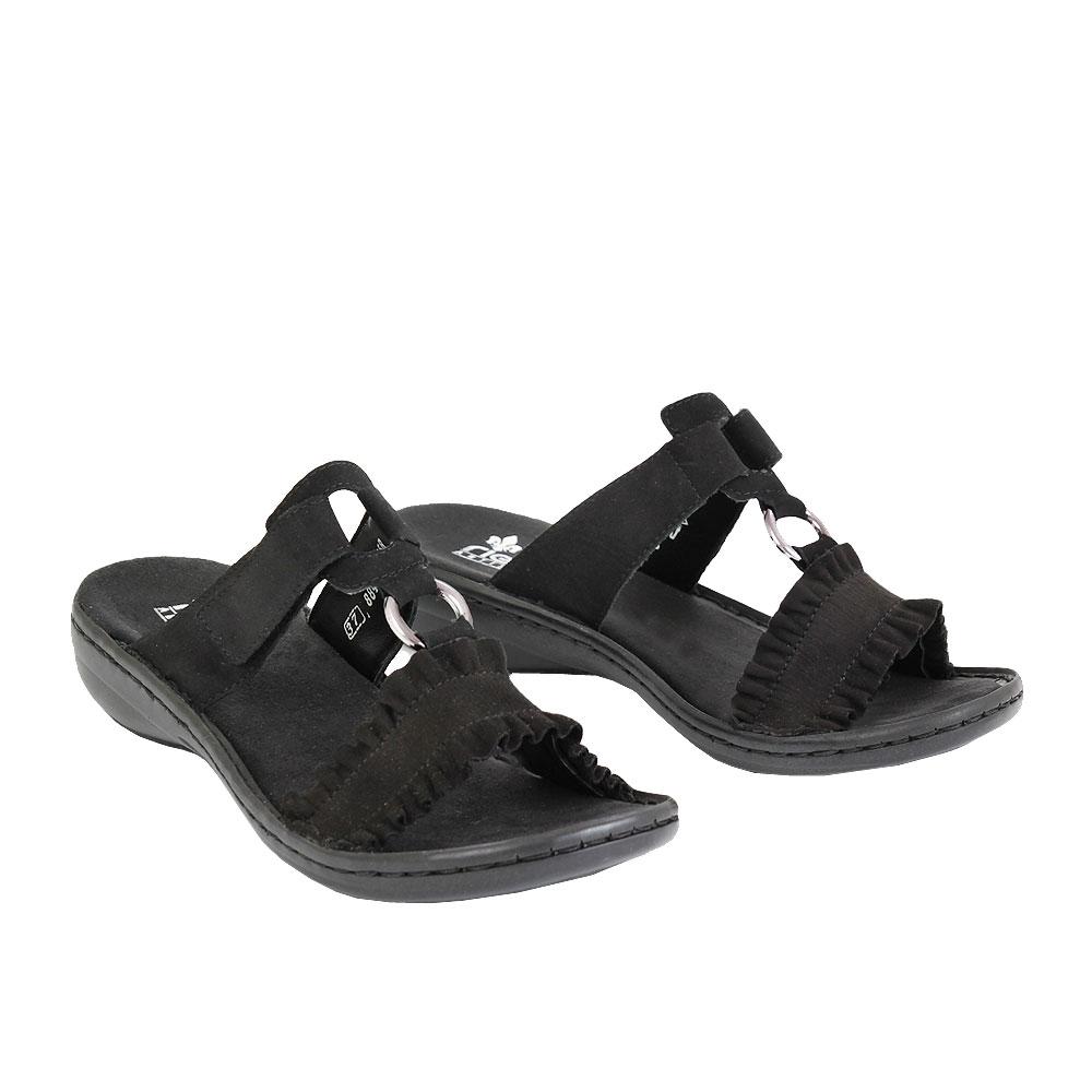 Dámské boty Rieker 608K9-01 Černá eko-kůže