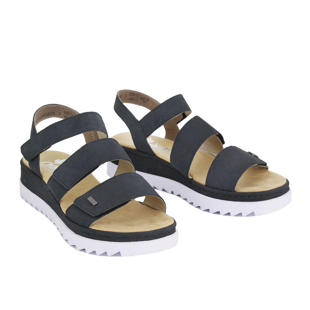 Dámské boty Rieker V4424-14 Modrá eko-kůže