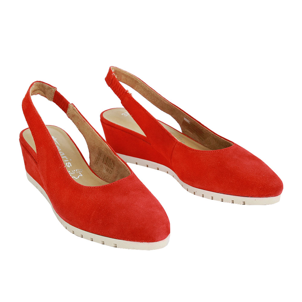 Dámské boty Tamaris 1-29504-24 Červená kůže/syntetika
