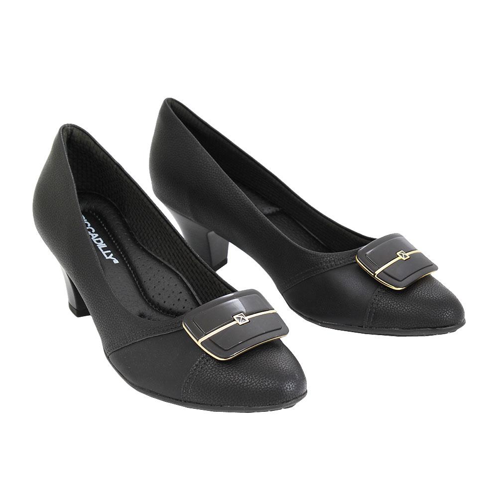 Dámské boty Piccadilly 704015-5 Černá eko-kůže
