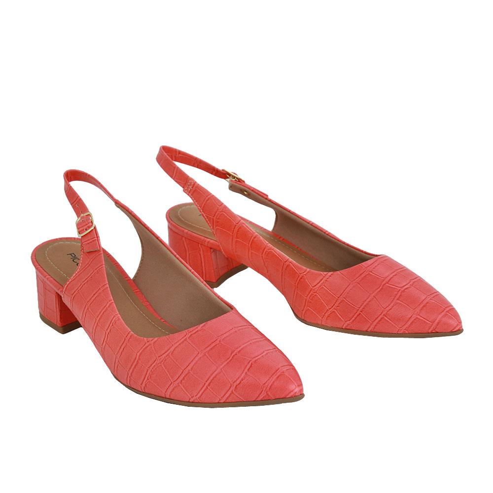 Dámské boty Piccadilly 738001-11 Oranžová eko-kůže