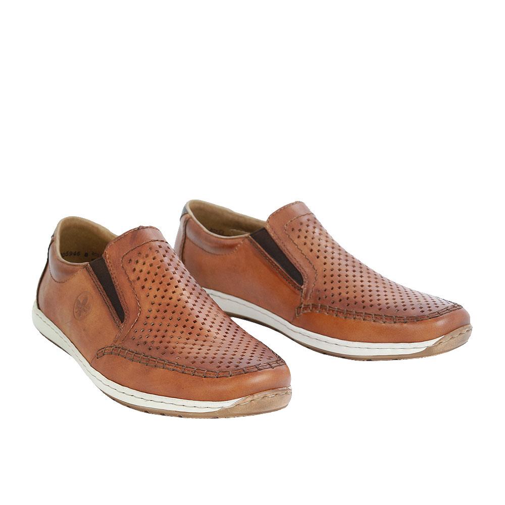 Pánské boty Rieker 08868-24 Hnědá Kůže